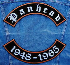 PANHEAD 1948-1965 Rockers Biker Motorcycle Patch by DIXIEFARMER in Old English