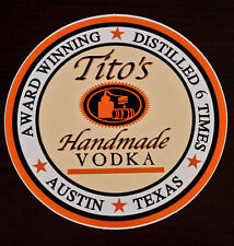 Tito's Handmade Vodka Collector's Bumper Sticker NEW Austin Texas Decal