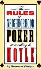 The Rules of Neighborhood Poker According to Hoyle Wolpin, Stewart Paperback