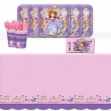Disney Sofia the First Princess Birthday Party Tableware Pack Kit For 8
