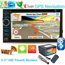"WIFI 6.5"" Double 2 Din In Dash Touch Car Stereo CD DVD Player Radio GPS Android"