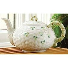 Belleek Shamrock Tea Pot & Lid