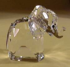 SWAROVSKI CRYSTAL LARGE ELEPHANT METAL TAIL MINT BOXED RETIRED RARE
