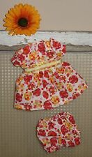 "Handmade Doll Clothes for 12"" - 14"" Baby Dolls - ""Flirty Girl"" Squares Dress Set"