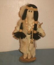 "Native American Art Doll with Papoose ""Selections by Sidonie"" w/ Stand 1990"