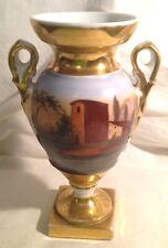 Antique Old Paris Ganre Handpainted Vase