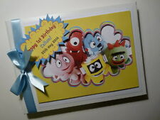 PERSONALISED YO GABBA GABBA FIRST/1ST BIRTHDAY GUEST BOOK ANY DESIGN