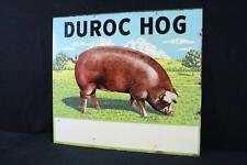 Duroc Hog Farm Pig Livestock Sign Double Sided Lot 95D