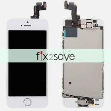 White LCD Lens Display Touch Screen Digitizer Assembly Replacement for iPhone 5S