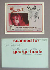 LAWRENCE TURMAN - AUTOGRAPH - 1979 - THE GRADUATE - THE THING - USC - AA NOM