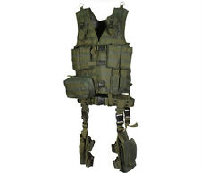 NEW UTG ULTIMATE MODULAR 10 PIECE MOLLE WEB VEST KIT RIFLE MAG POUCH BELT GREEN