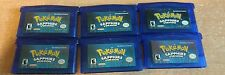 Genuine Pokemon: Sapphire Version Nintendo Game Boy Advance - Tested+New Battery