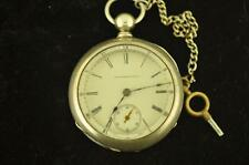 VINTAGE 18S ILLINOIS KW/KS POCKET WATCH GRADE 2 FROM 1886 4 OZ COIN SILVER CASE