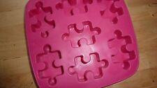 PINK Ice Cube Vassoio Puzzle Quadrato Vassoio Contenitore Divertente Chic Moderna Retrò RARE FAB!!!