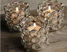 Wedding Centerpieces Crystal Tealight Votive Candle Holders 4 Pcs Set