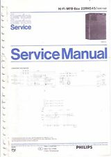 PHILIPS SERVICE MANUAL per MFB-BOX 22 RH 545