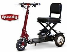 Red Speedy EW-01 EWheels FAST Folding Portable Mobility Scooter, 350 lb Wt Cap,
