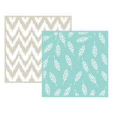 "Lifestyle Crafts/We R Memory Keepers Embossing Folders ""Feather"" 2 6x6"" Folders"