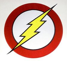 THE FLASH symbol LARGE EMBROIDERED BACK PATCH **FREE SHIP** DC Comics P-DC-119-X