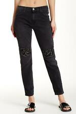 NWT Current / Elliott The Fling Cropped Embellishe Jeans in Nighthouse 27