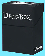 Ultra Pro DECK BOX BLACK NEW  Standard Small Large Size Card Holder 81453 gaming