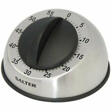 Salter 60 Minute Timer 338 Mechanical Stainless Steel Magnetic