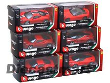 6 PIECES FERRARI SET ASSORTMENT B 1:43 DIECAST MODEL CARS BY BBURAGO 36100 B