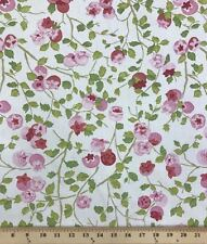 """100% Cotton Duck Upholstery Flower Fabric By The Yard 55"""" Wide By P/Kaufmann"""
