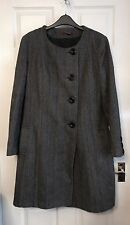 Debenhams John By John Richmond Woman's Classy Grey Coat Size 16