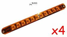 "4 +++ Bright Amber 17"" LED Light Bar Trailer Truck Turn Tail Surface Mount"