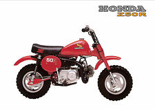 HONDA Poster Classic Z50R Z50 1980's Mini Monkey Bike Suitable to Frame