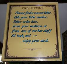 Ristorante pub gastro ordine punto segno da Appendere Dipinti A Mano Grande BIADESIVO