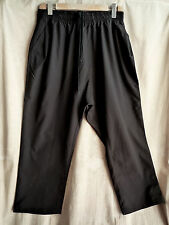 SILENT by DAMIR DOMA BLACK LIGHTWEIGHT TROUSERS SIZE M