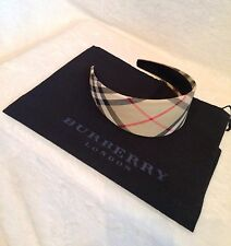 "New BURBERRY Nova Check Cotton Fabric 2.5"" WIDE Headband"