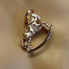 9ct gold new rose gold rocking horse charm