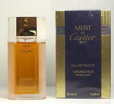 Vintage Cartier Must De Cartier 1.6oz Women's Eau de Toilette Spray New & Sealed