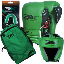 3XSports Kids Boxing Gloves Head Guard Kits Bag Junior UFC Training KickBoxing