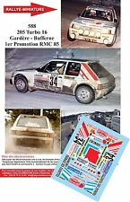 Decals 1/43 réf 588 205 Turbo 16 Gardère - Bufferne 1er Promotion Monte Carlo 85