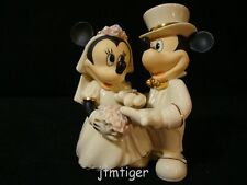 zp Lenox-Wedding-Mickey/Minnie Mouse-Bride/Groom/Diamond Ring-Nice Cake Topper