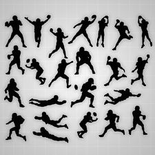 Football wall decals, Football boy silhouette wall stickers, football decal lot