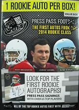 NFL Press Pass FOOTBALL 2014 Trading Card Box seald/OVP 1 auto tramite BOX