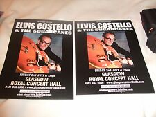 Elvis Costello Live Flyers Glasgow Royal Concert Hall Sugarcanes Attractions NEW