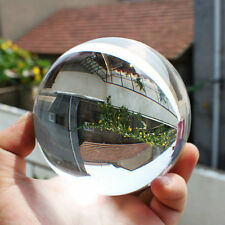 60mm Clear Round Glass Artificial Crystal Healing Ball Sphere Decoration UL