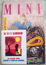 1991 'MINI' RIVISTA GIOVANI SU AMORE E SESSO ANNO I  n° 1 CON MINI LIBRO SU BACI