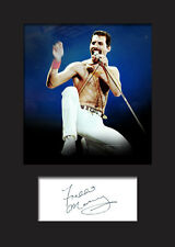 FREDDIE MERCURY #1 Signed Photo Print A5 Mounted Photo Print - FREE DELIVERY
