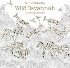 WILD SAVANNAH Millie Marotta Adult Coloring book NEW art therapy African animals