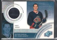 MATHIEU DARCHE 2001/02 SPX #137 RC ROOKIE GAME USED AWAY JERSEY #/1500 $10