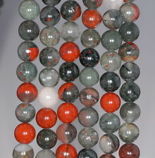 6MM BLOOD STONE GEMSTONE GRADE AA  ROUND 6MM LOOSE BEADS 15.5""