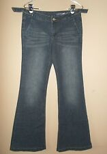 Tommy Girl Blue Jeans Juniors Size 9 Decorative Pockets Flare Legs
