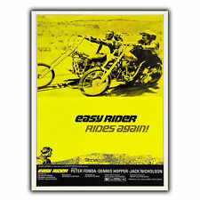 EASY RIDER 1969 - METAL SIGN WALL PLAQUE Retro Film Movie Advert poster